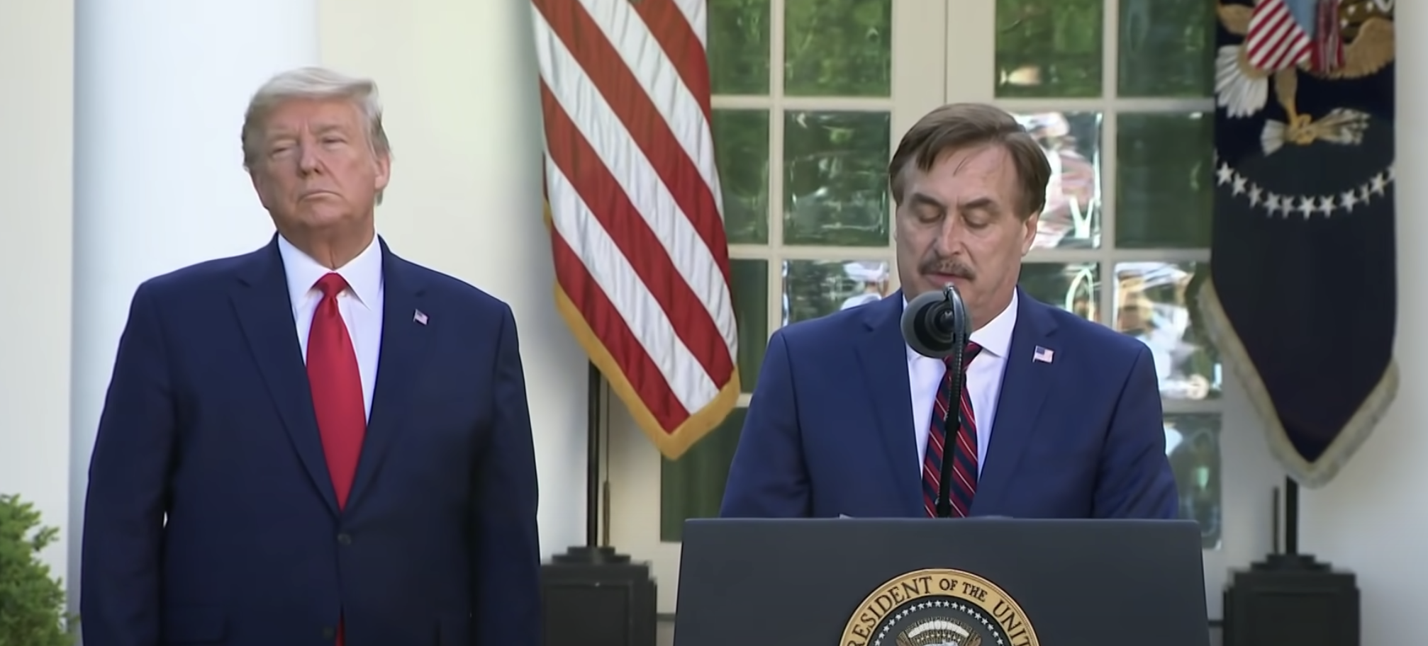Mike Lindell at the Rose Garden